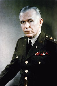 Portrait: US Army (USA) General (GEN) George C. Marshall. (Uncovered), (Exact date shot UNKNOWN).