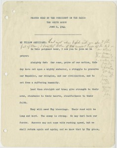 FDR's D-Day Prayer Courtesy Franklin D. Roosevelt Presidential Library and Museum