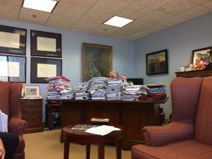 Ernest Moniz, at his desk Secretary Department of Energy under President Obama