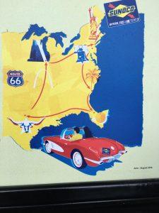 1958 Corvette in Sunoco ad