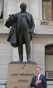 Your Business Professor  paying homage to  John Wanamaker Philadelphia, PA