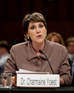 Charmaine Yoest, Ph.D. Providing testimony at Kagan Confirmation hearing