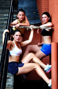 Yoest sisters Sarah, top; Helena right Hannah, lower Exorcist Stairs, DC 2012
